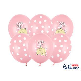Ballonger Elefant, Rosa, 6-pack