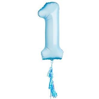 Folieballong 1 år blå