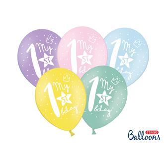 Födelsedagsballonger Pastell 1-10 år