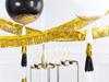 Draperi-vimpel guld, 4 m