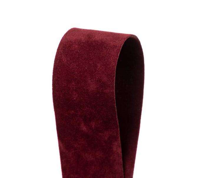 Sammetsband Vinröd 25 mm x 7 m