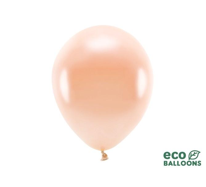 Eko ballonger metallic persika 30 cm, 10-pack