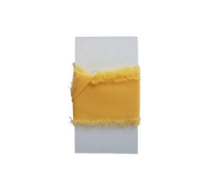 Chiffongband Gul 4 cm x 1,5 m