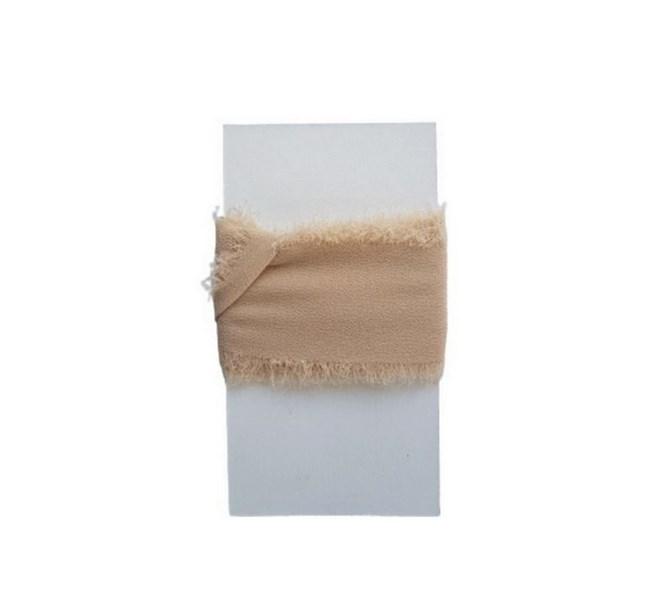Chiffongband Beige 4 cm x 1,5 m