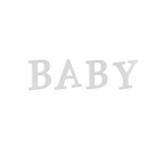 Bokstäver BABY, 20 xm höga