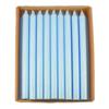 Stearinljus rustik Ljusblå 28 cm, 4-pack