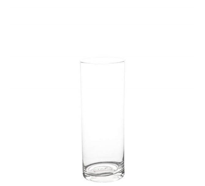 Cylindervas i glas, 20 cm.