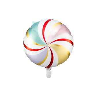 Folieballong Candy Jul färger, 35 cm