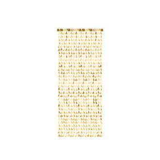 Draperi till Jul - granar i guld 100 x 245 cm
