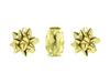 Presentinslagningsset band och 2 rosetter, guld