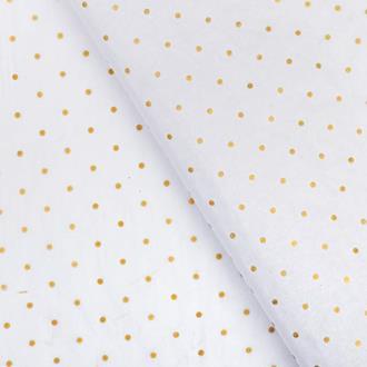 Silkespapper Vit/guld Prickig, 20-pack