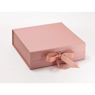 Presentbox med band Roséguld  30 x 30 x 9 cm