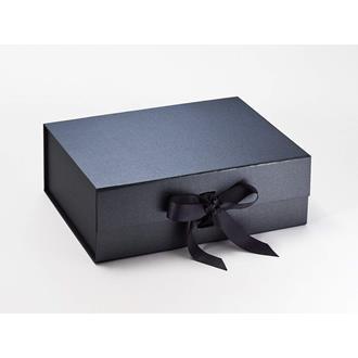 Presentbox med band Svart 33 x 25 x 11 cm