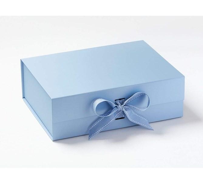 Presentbox med band Blå 33 x 25 x 11 cm