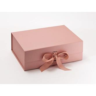Presentbox med band Roséguld 33 x 25 x 11 cm