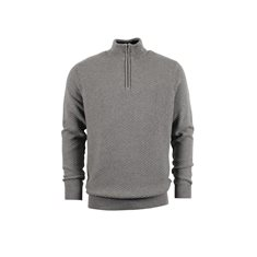 Tröja Firenze zip  Grey mix