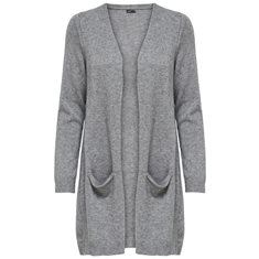 Cardigan Queen knit  med.grey melange
