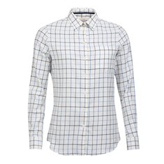 Blus Triplebar  Oxford blue check