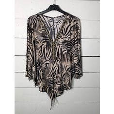 Top m bling Zebra one size