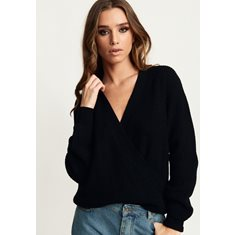 Tröja Samira Wrap knit  Black