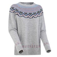Tröja Sundve knit  Grey melange