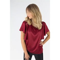 Blus Claudine  Maroon Red