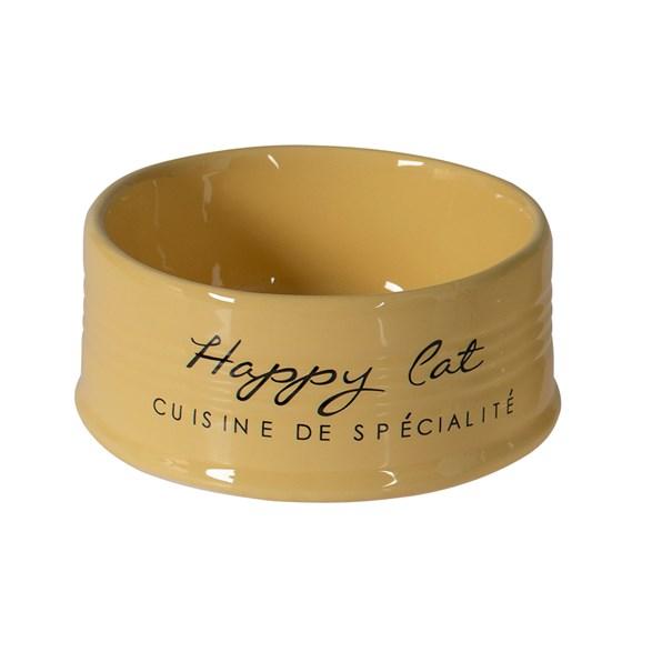 Skål Happy Cat 10,5cm 300ml Yellow