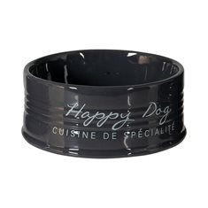 Skål Happy Dog keramik 10,5cm 300ml antthracite