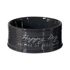 Skål Happy Dog keramik Anthracite