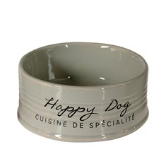 Skål Happy Dog keramik Grey