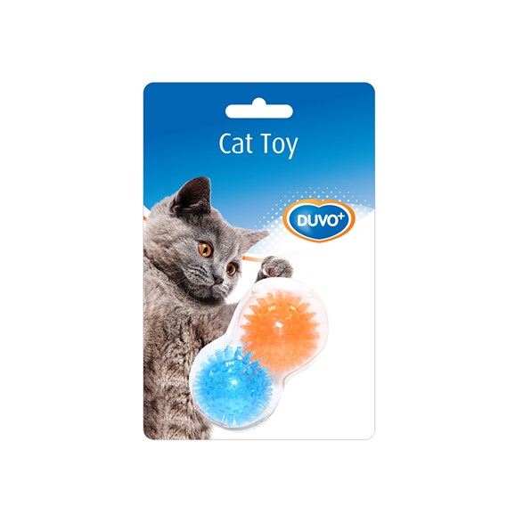 Kattleksak noppboll orange/blue