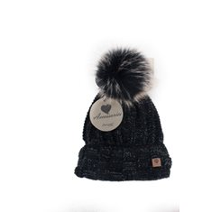 Mössa Winter lady flecked Black