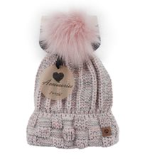 Mössa Winter lady flecked Pink/grey