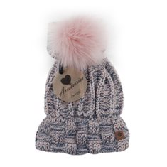 Mössa Winter lady flecked Pink/navy