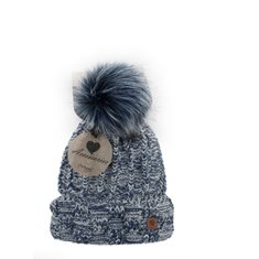 Mössa Winter lady flecked White/navy