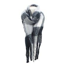 Halsduk Winter dreads DF Black/grey