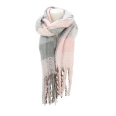 Halsduk Winter dreads DF Rose/grey