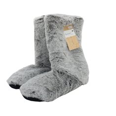 Toffel Fur look Warm 35-38 Grey