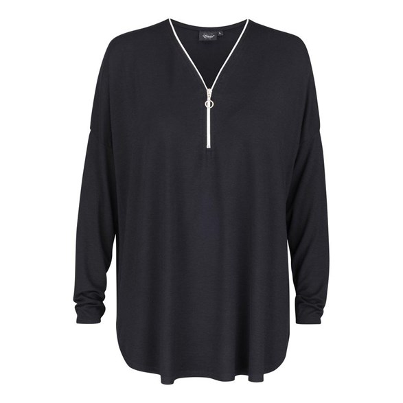 Top m zip  Black
