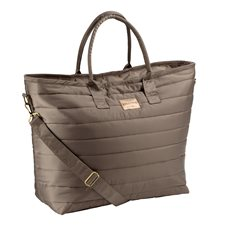 Väska Glossy shopper Deeptaupe