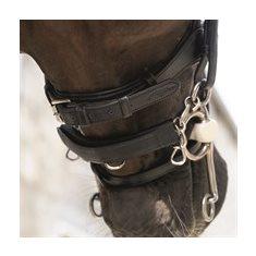 Kindkedjeskydd läder/neo svart