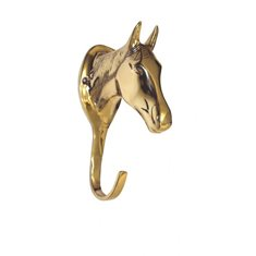 Bridle hook Horse Head brass