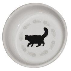 Keramikskål Katt enkel 12cm