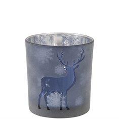 Ljushållare S hjort blå