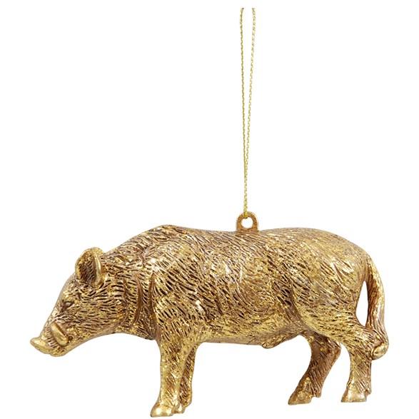 Hängdecoration Vildsvinet Boris guld