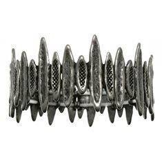 Armband taggigt svart