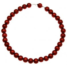 Halsband pärlor röd