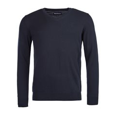 Tröja Pima cotton V-neck  navy