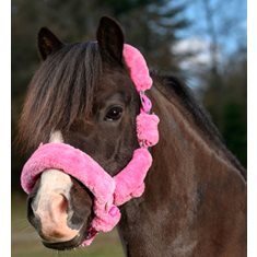 Grimma med päls  Mink Hot pink