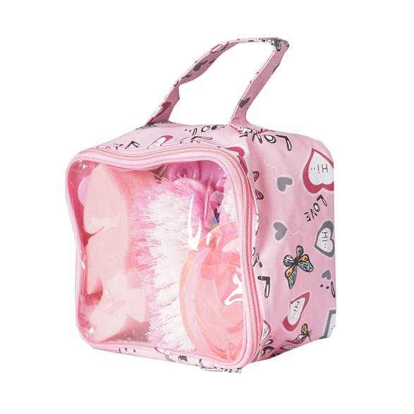 Ryktväska med innehåll rosa